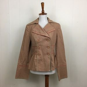 Cynthia Steffe Linen Blend Double Breasted Jacket
